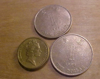 Hong Kong Coins lot of 3 Vintage 90s  + 4 others