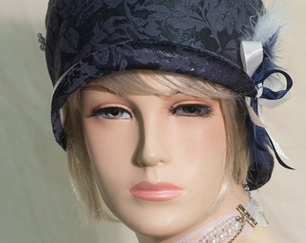 1920s inspired flapper hat cloche hat