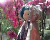 RESERVED - Savannah - Waldorf Doll with hair made of Suri Alpaca Wefts