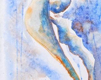 Whimsical sea horse-original water color painting-sea dragon-fish art-art fish-modern-coastal-beach house-condo-decor-fine art-painting-art
