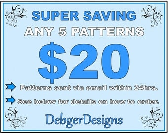 SUPER SAVING - Loom beading patterns 5 for 20 Dollars