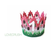 New|| Watermelon crown || mini birthday lace crown || party hat || cake topper || cake smash || headband option || photo prop