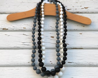 Teething Necklace Discount 3 Set for Mom - Modern Neutral Collection - FREE SHIPPING SALE - Nursing necklace - Includes 3 necklaces