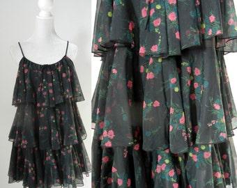 Vintage Lingerie, Vintage Baby Doll, 1960s Lingerie, 1960s Baby Doll, 60s Pajamas, 1960 Pyjamas, Retro Black Babydoll, Vintage Pyjama Top