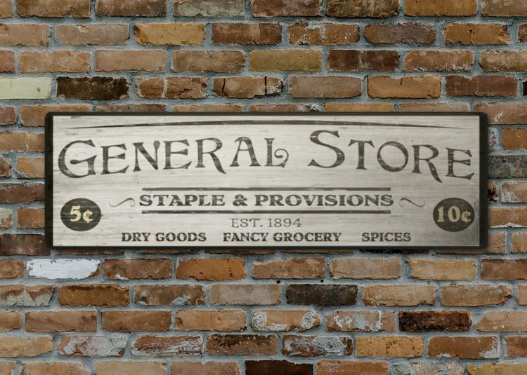 Custom General Store Wood Sign Handcrafted Rustic By
