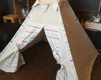 Handmade children's teepee/wig-wam/tent