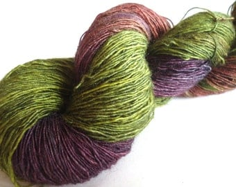 Merino Silk Lace yarn hand painted hand dyed: Jewels