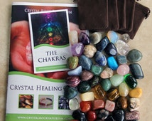 Quality HUGE 45 Tumbled Stone CRYSTAL HEALING Gemstone Set + Bonus