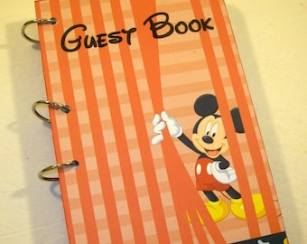 Guest Book, Mickey Birthday, Mickey First Birthday, Party Sign in Book, Mickey Baby Shower Guest Book, Mickey Birthday, Mickey Party