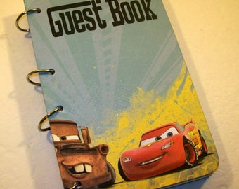 Guest Book, Car Birthday, Party Boy Birthday, Cars Guest Book. Racing Guestbook