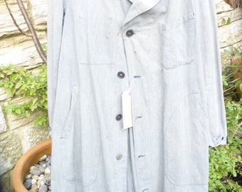 French vintage school teachers coat distressed
