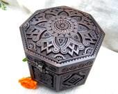 Jewelry box Wooden box Wood box Ring box Wood box  Wood boxes Jewelry boxes Wood carving schatulle Wedding gifts Jewellery box boite B56
