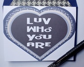 Love Who You Are - Valentines Card, Boy Met Boy, Gay, Same Love Card