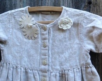 CUSTOM example order summer soft rustic toddler Ecru flowers Laces Birthday Celebration gypsy boho toddler country dress