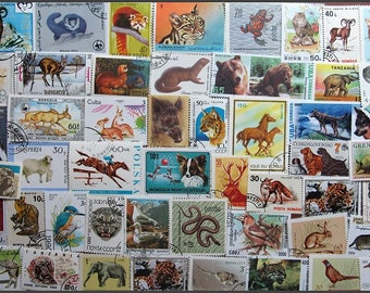 Mixed Animals Postage Stamps Ideal For Card Making/Scrapbooking - Collecting