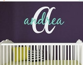 LIMITED SALE - Personalized Name Vinyl Wall Decal with Initial | Custom Nursery Decal | Gifts & Decorating