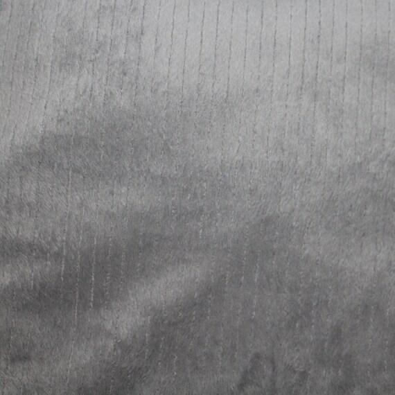 Gray Ribbed Minky Fabric/Gray Ribbed Cuddle Fabric/Soft Minky Fabric/Soft Cuddle Fabric/Gray Ribbed Fabric/Baby Blanket Fabric/Gray Fabric