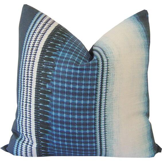 shibori pillow indigo pillow tie dye boho indigo pillow
