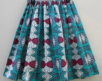 Wax Print Skirt, African Print Skirt