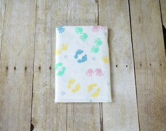Swaddle Blanket - Large - Hands and Feet Flannel Receiving Blankets - New Baby Gift