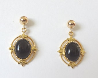 Black Onyx Earrings FREE SHIPING!