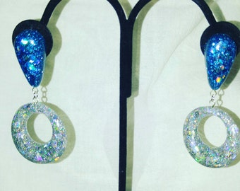Sparkle Goodness Hoops Earrings, Size Small