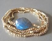 Gold Beaded Labradorite Bracelet