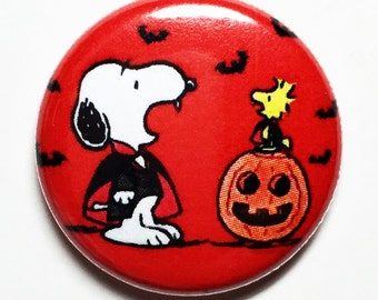 Vampire Snoopy - 1 inch Button, Pin or Magnet