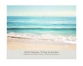 2016 Wall Calendar, Beach Calendar Photography, Coastal Wall Calendar, Ocean Calenders, 2016 Seashore Calendar, Monthly Beach Planner