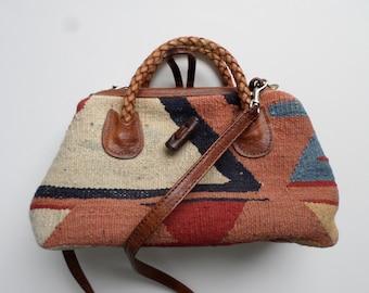 Vintage Marco Avane / Kilim Bag / Carpet Bag