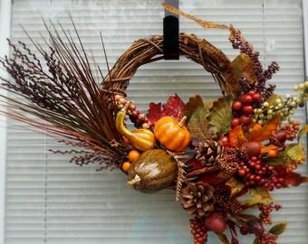 Fall Wreath, Autumn Home Decor