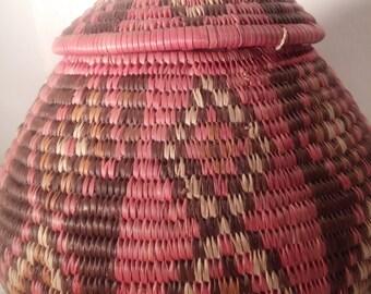 Hand made Zulu basket from South Africa