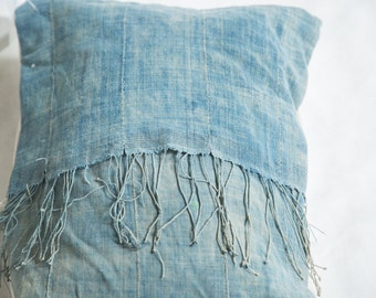 Vintage Light Blue Indigo Pillow