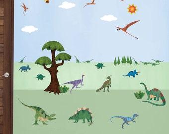 Dinosaur Wall Decals – Peel & Stick Dinosaur Wall Stickers for Dinosaur Themed Room for Nursery and Kid Room - MINI SET (Item: 1246-17)