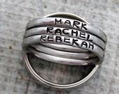 Personalized Stacking Rings - Mothers Rings - Stainless Steel Rings - Stamped Rings - Small 2mm Rings - Name Ring - Stackable Rings (1002)