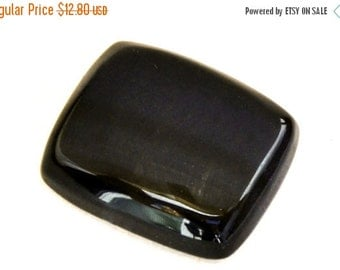 ON SALE Falcon Eye Cabochon Stone (27mm x 22mm x 7mm) - Rectangle Cabochon