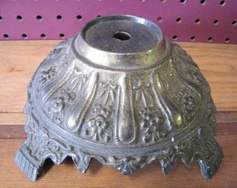 Old Vintage Cast Metal Table Lamp Base Lamp Repair Restoration or Repurpose