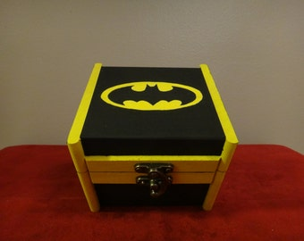 Custom Painted Wooden Keepsake Box - Batman