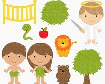 bible characters clipart clip art christian religious - Adam and Eve Digital Clipart