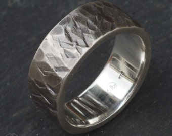 The Glacier Ring - smaller version - detailed cast in sterling silver - Natural Organic Cast Form