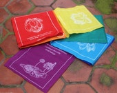 Tibetan Healing Prayer Flags with Seven Sheets of Individual Messages