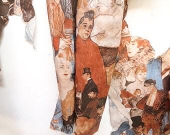 Toulouse Lautrec shirt remnants / patches /print