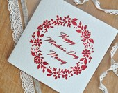 Nanny Mother's Day Floral Laser Cut Card