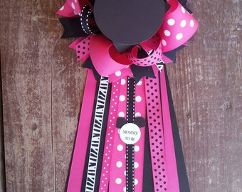 Minnie Mouse baby shower-  corsage- minnie baby shower