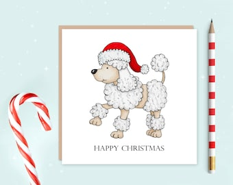 Poodle Christmas Card Pack of 10, Poodle, Christmas cards, ideal for Christmas, ideal gift for dog lovers