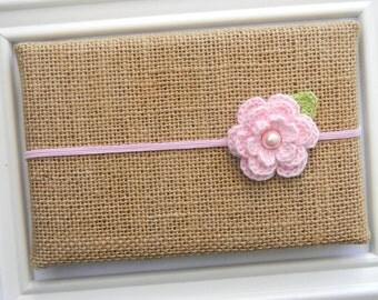 Baby Flower Headband - Baby Pink Flower Headband - Pink Flower Headband - Baby Headband
