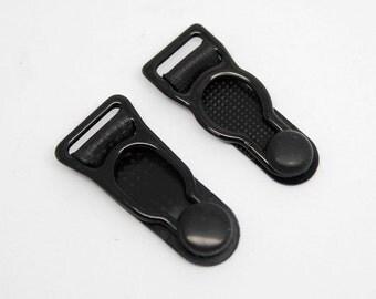 5pcs 10/12mm sock suspenders socks suspenders Elastic garters Metal buckles Garter metal buckle