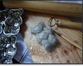 Teddy Bear Moulds, Vintage moulds, Six Candle Moulds, Vintage Metal Teddy Bear, Vintage Teddy