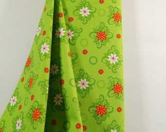 "Green Floral Flannel Fabric, ""Mystic Forest"" by Fabri-Quilt, 100% Cotton Choose Your Cut, Great for Quilting, Crafting, Sewing!"