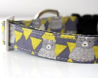 Cotton Linen Bear Triangle Dog Collar